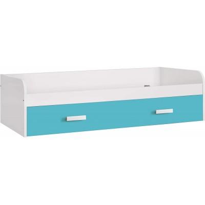 Cama Nido Elliot con cajón Azul Turquesa